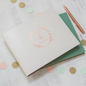 Wedding Guest Book With A Boho Wedding Logo Designed - guest books