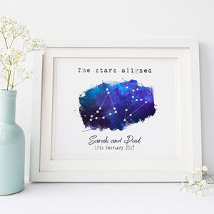 Personalised 'Constellations' Wedding Print