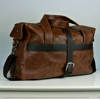 Handcrafted Brown Travel Bag