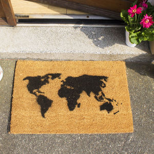 World Map Doormat - office & study