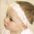 Tabitha Ivory Baby Christening / Flower Girl Headband