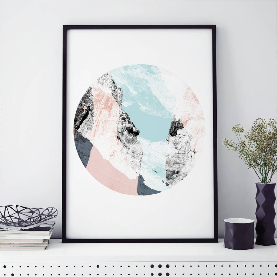 Abstract Wall Art Print Wood Valley No. One