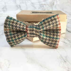 Otto Tweed Dog Bow Tie - dogs