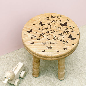 Personalised Wooden Butterfly Stool - kitchen