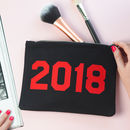 Personalised Make Up Bag - Personalised Year Makeup Bag - Slogan make up bag from Rock On Ruby
