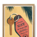 Personalised Keyring Special Location Print