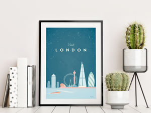 'Visit London' Travel Poster - posters & prints