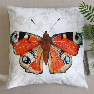 Oversized Butterfly Botanical Floor Lawn Cushion - living room