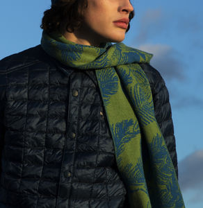Bknit Leaves Scarf - gifts for fathers