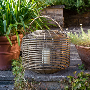 Extra Large Bamboo Lantern - new in garden