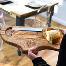 Large Rustic Olive Wood 45cm Chopping Board