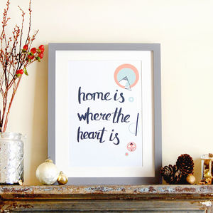 Home Is Where The Heart Is, New Home Print