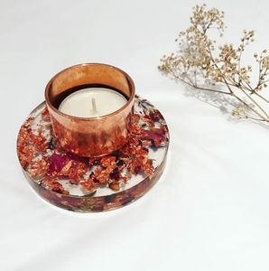 Copper Floral Tealight Holder