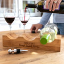 Personalised Home Sweet Home Wine Holder