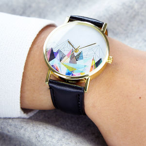 Geometric Landscape Print Watch - watches