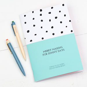 Merry Making For Sunny Days Notebook - stationery-lover