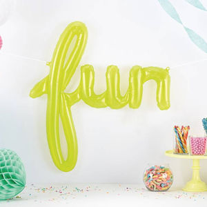 Fun Script Party Balloon