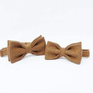 Father And Son Tweed Bow Tie Set - ties & tie clips