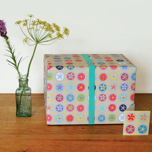 Flowery Gift Wrap - wrapping paper