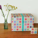 Flowery Gift Wrap Two Sheets
