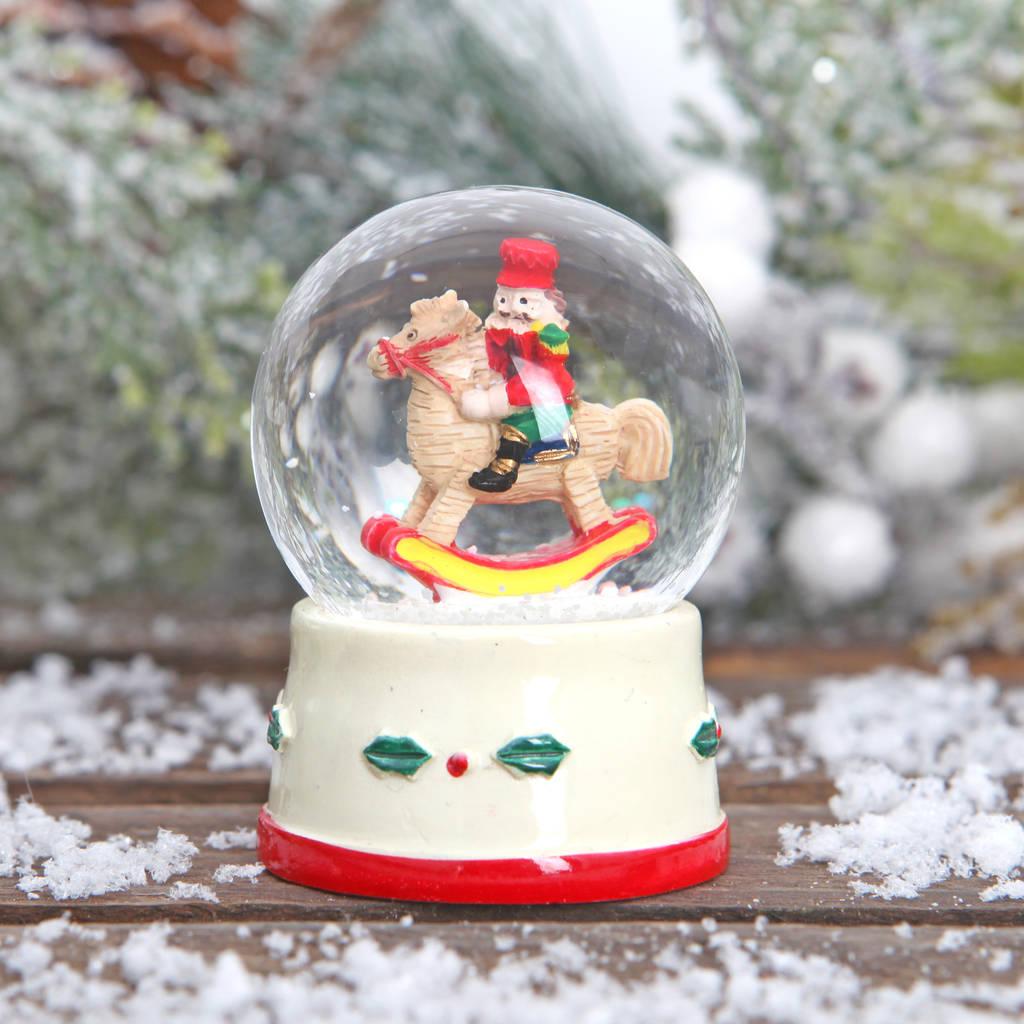 Nutcracker Christmas Mini Snow Globe By Red Berry Apple ...