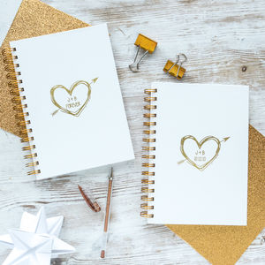 Pair Of Personalised Valentine's Notebooks