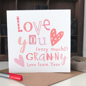 Personalised Mother's Day Card For Granny - shop by category