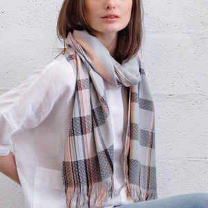 Cecile Handwoven Silk Scarf - gifts for her sale