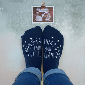 Personalised First Father's Day Little Bean Socks - summer sale