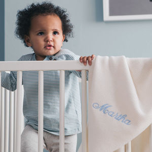 100% Pure Cashmere Personalised Baby Blanket - christening gifts