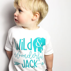 Personalised 'Wild And Wonderful' T Shirt - new in baby & child