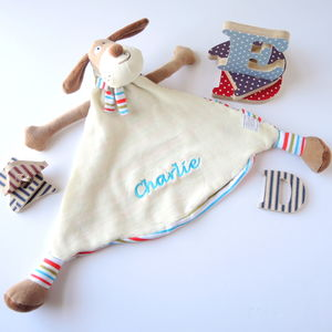 Personalised Cream And Brown Puppy Soother - baby care