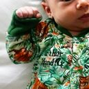 Personalised Jungle Babygrow
