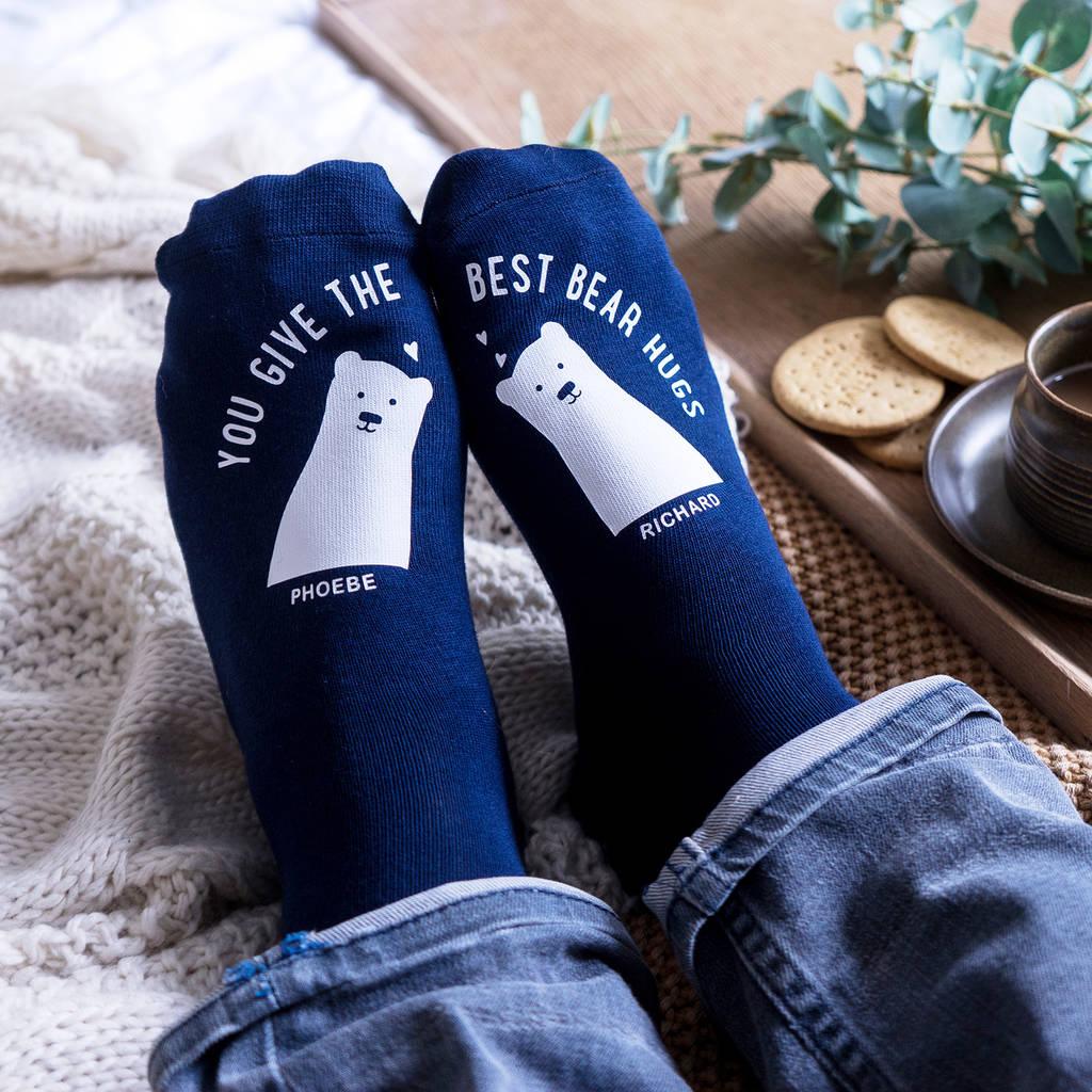 Personalised Best Bear Hugs Socks