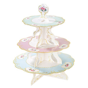 Vintage Floral Reversible Cake Stand - cake stands