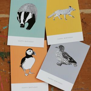 A Pack Of Eight Mixed Happy Birthday Cards