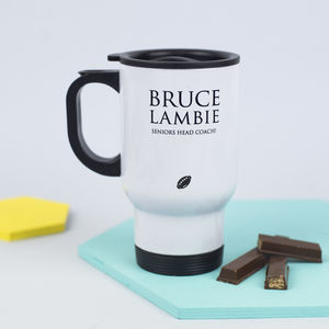 Personalised Rugby Travel Mug