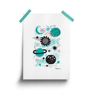 Space Print - pictures & prints for children