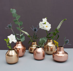 Bud Vase Trio, Metallics - table decorations