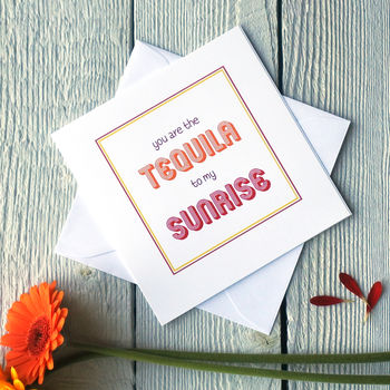 Personalised Tequila Sunrise Card