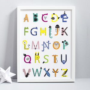 Childrens Alphabet Print - baby's room