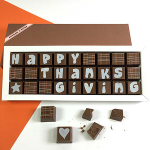 Happy Thanksgiving Gift In Chocolate - novelty chocolates