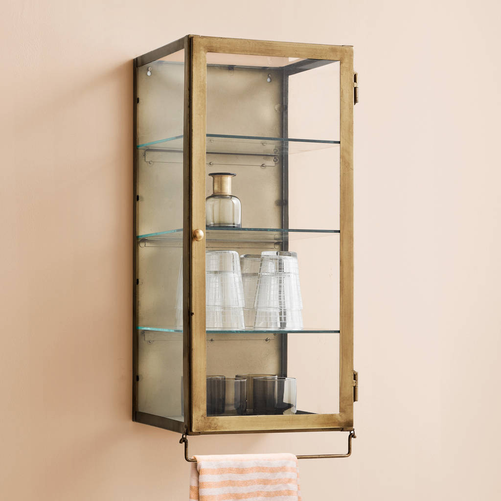 Single Or Double Door Wall Cabinet In Gold By Out There