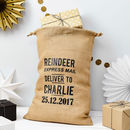 Personalised Reindeer Express Christmas Sack