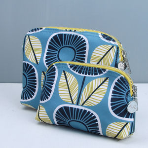 Personalised Sunflower Fabric Make Up Bag - wash & toiletry bags
