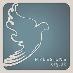 MyDesigns Logo represents the Dove, the symbol of Peace.
