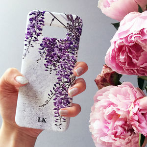 Wisteria Print Personalised Phone Case