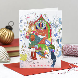 'Magical Friend' Christmas Card - winter sale
