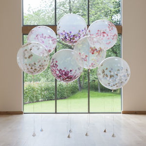 Giant Heart Confetti Filled Balloons - occasion