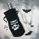 Personalised Halloween Bottle Of Boos Bag
